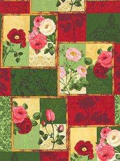 Bouquet Moderne - Rose & Poppy Frames - Berry Red