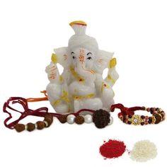 Ganesha Figurine N Rakhi International - Rakhi To Dubai