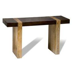 Berkeley Chunky Wood Modern Rustic Console Sofa Table #kathykuohome