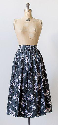 vintage 1950s skirt | vintage 50s skirt | floral skirt #vintage #1950s #floral