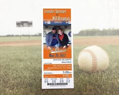 These Ticket Invitations are the perfect fit for your Baseball or other Sport Themed Wedding Rehearsal Dinner or Event. Make your Invites fit your theme by inviting your guests with with tickets! These are also available with an RSVP card or Postcard. Wedding Rehearsal, Rehearsal Dinners, Ticket Invitation, Invites, Sports Wedding, Photo Magnets, Return Address Labels, Wedding Colors, Rsvp