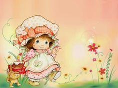 Minnie Png, Sarah Kay, Holly Hobbie, Christmas Scenes, Fruit Art, Naive Art, Cute Illustration, Big Eyes, Vintage Cards