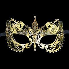 Grátis frete 1 X Golden veneza de corte a Laser máscara máscara de Metal com…