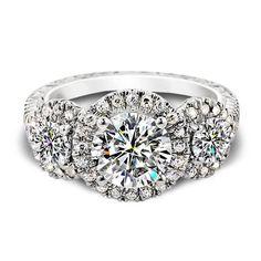 BHJewelers.com  2.00 Carat T.W. 3 Stone Round Brilliant Cut Engagement Ring
