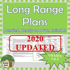 *Editable* Detailed Long Range Plans Gr.5-6 ONT Curriculum - ALL SUBJ., FI too