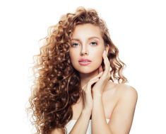 Beautiful spa woman with healthy wavy hair isolated on white. Cosmetology, facial treatment and wellness concept Curly Girls, Facial Treatment, Keratin, Cosmetology, Wavy Hair, Aloe Vera, Afro, Spa, Vogue