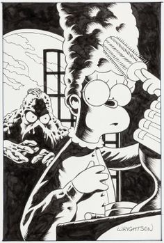 Image of Bernie Wrightson The Simpsons as Swamp Thing House ofSecrets #92 | Lot #92404 | Heritage Auctions