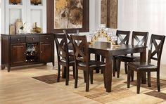 The Soho Collection - Espresso Dining Room Furniture, Home Furniture, Dining Chairs, Dining Table, Dining Rooms, Furniture Ideas, Kitchen Reno, Kitchen Dining, Home Reno