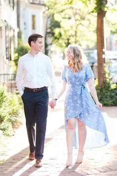 A Classic Georgetown Engagement - Photography by Katelyn James