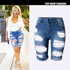 21.33$  Buy here - http://ali9dc.shopchina.info/1/go.php?t=32793545350 - Tall waist personality fashion street snap to cultivate one's morality pants in the hole stretch pants have big yards  #buychinaproducts