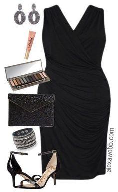 Plus Size LBD Outfits - Plus Size Little Black Dress - Plus Size Dress #plussize #alexawebb #dress