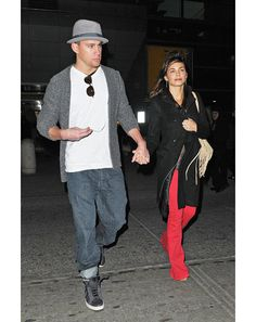 GQ.com: 2012 Sweet marled cardigan, dude. And the hat, that's cool.Not so sure about anything else..