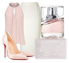 Stuck between love and hate by lucieednie on Polyvore featuring polyvore fashion style Vera Mont Roland Mouret Christian Louboutin HUGO clothing
