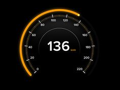 Day 071 - Speedometer by Gavin de Koning App Ui Design, Interface Design, User Interface, Web Design, Digital Dashboard, Dashboard Ui, Digital Watch Face, Electric Car Concept, Porche 911