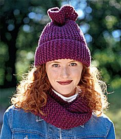 fe6a5ec866d Tube Moebius Scarf And Hat with Wool-Ease Chunky