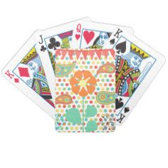 Flower Polka Dots Paisley Spring Whimsical Gifts Bicycle Card Deck
