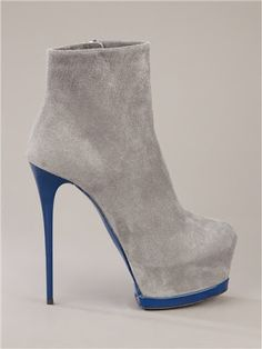 Gianmarco Lorenzi Grey Ankle Boots Fall Winter 2012 #GML #Lorenzis #Heels