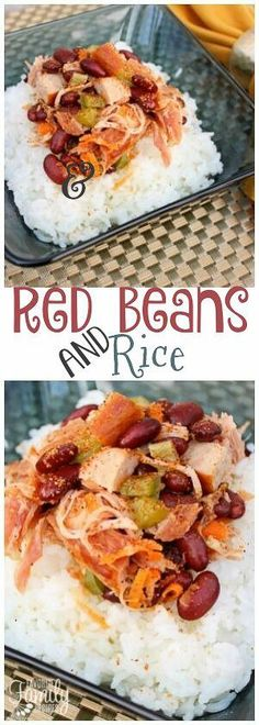 Crock Pot Red Beans and Rice is a flavorful recipe that can easily be made with a leftover ham in the slow cooker. A great main dish OR side dish!