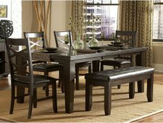7pc Hawn Dining Room Table Set http://www.maxfurniture.com/dining/dining-sets/7pc-hawn-dining-room-set-by-home-elegance.html