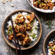 Better Than Takeout Kung Pao Cauliflower. - Better Than Takeout Kung Pao Cauliflower. Better Than Takeout Kung Pao Cauliflower Kung Pao Cauliflower, Oven Roasted Cauliflower, Cauliflower Recipes, Cauliflower Steaks, Vegetarian Recipes, Cooking Recipes, Healthy Recipes, Cooking Games, Oven Recipes