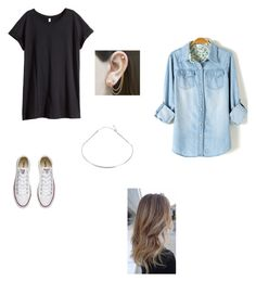 """Untitled #98"" by abby-nelson1015 on Polyvore featuring H&M, Converse, Tada & Toy and Embers Gemstone Jewellery"