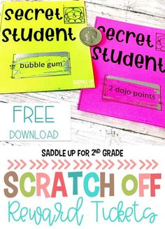 Looking for fun, cheap ideas for whole classroom rewards that promote positive behavior in elementary school? Click the image to learn how one teacher uses scratch off tickets and a secret student to achieve this! Class Dojo Rewards, Student Rewards, Classroom Rewards, School Classroom, Classroom Ideas, Future Classroom, Classroom Organization, Organization Ideas, Classroom Management Techniques