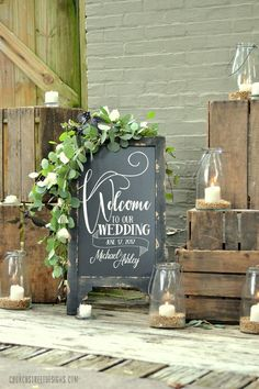 Wedding Chalkboard with Message, Double Sided Chalkboard, Chalkboard Easel, Sandwich Chalkboard, Welcome To Our Wedding - hochzeit willkommen Chalkboard Easel, Chalkboard Wedding, Chalkboard Lettering, Bridal Shower Chalkboard, Chalkboard Signs, Wedding Signs, Wedding Ceremony, Wedding Day, Wedding Entrance Table