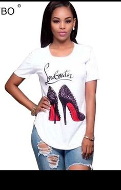 Graphic Fashion Tshirts, High Heels, Loubatain lover #Unbranded #GraphicTee