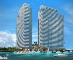 Los condominios de la construcción del puerto