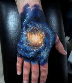 Incredible and shocking space tattoo designs to astound you. Enjoy over 44 awesome space tattoos and science fiction body art ideas. (SEE SPACE TATTOOS) Heart Tattoos With Names, Hand Tattoos For Guys, Sleeve Tattoos For Women, Tattoos For Women Small, Trendy Tattoos, Tattoo Sleeves, Small Tattoos, Colorful Tattoos, Cool Cross Tattoos