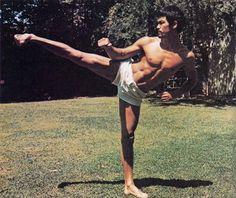 Bruce Lee at work