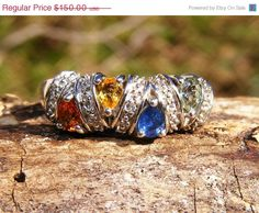 30% OFF Multi-Colored Sapphire & Sterling by GoldiesNaturalGems