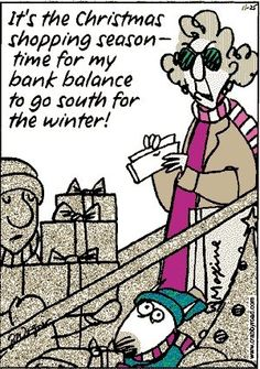 Maxine and Christmas Shopping