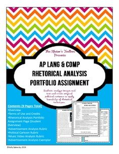 AP Language and Composition how to analyze an essay of two passages?
