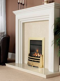 Sarranda, High Efficiency, Gas Fire, Brass Fascia, Coal Fuel Bed