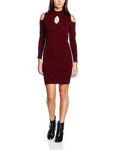 fbc9a717af256 10 Purple (plum) Jane Norman Women s Cold Shoulder Peephole Jumper Dress  for sale online