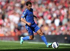 Chelsea's Eden Hazard in action during the Barclays Premier League match between Arsenal and Chelsea at Emirates Stadium on September 29, 2012 in London, England