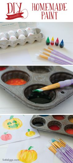 Try our DIY homemade paint using egg yolks! And it's safe when you use @SafeEggs. :)