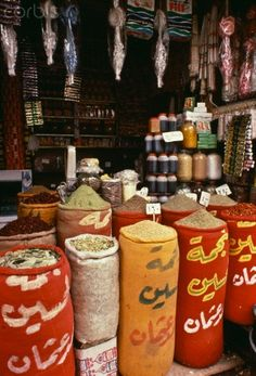 Spice Stall - Cairo's Bazaar....I would love to just smell the spices here!