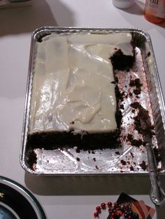 Irish car bomb brownies: Guinness brownies with jameson and bailey's cream cheese frosting