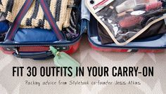 Great tips that can help you pack for your Disney World vacation too! | Stylebook Closet App: Fit 30 Outfits in Your Carry-On: The Tools & Techniques You Need to Fit It All