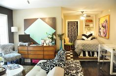 Wild and Crazy and I love it.  It's Jessica's Dallas Regency and it was featured on Apartment Therapy.