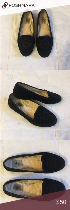 UGG Australia Black Allowy Flats (size 7.5) UGG Australia Black Alloway Flats. Size 7.5. Light wear & tear in excellent pre-owned condition. UGG Shoes Flats & Loafers