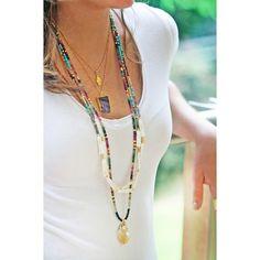 Agua dulce collar de perlas y piedras preciosas HEISHI