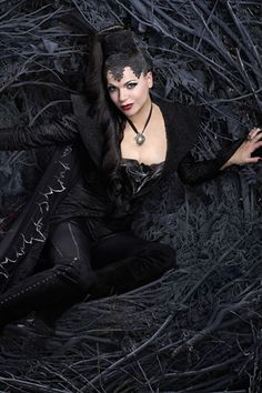 "The Evil Queen from ""Once Upon A Time"" has a super cool, edgy look that would-be so fun to rock."