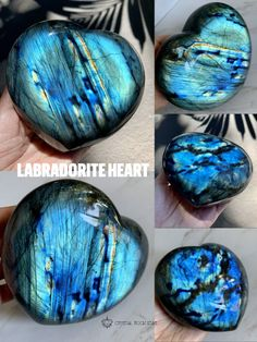 Add this gorgeous premium large blue Labradorite crystal decor heart to your bedroom, living room or desk space! The pop of blue flashy colors will brighten your day. Tap the photo to see the full crystal collection! #crystals #labradorite #homedecor #interiordesign