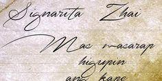 signarita zhai cursive font 8  For the rib tat