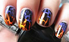 two colors under crackle.