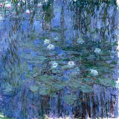 Claude Monet. Blue Water Lilies (1919).