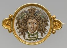 """""""Brooch, head of Medusa in micromosaic - this jewelry making firm used ancient imagery with technology taken from classical antiquity, before 1888 Firm of Castellani, Italy """" Victorian Jewelry, Antique Jewelry, Vintage Jewelry, Renaissance Jewelry, Jewelry Stores Near Me, Jewelry Shop, Jewellery Box, Jewelry Making, Custom Jewelry"""